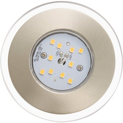 Briloner LED-Einbauleuchte EEK: A+ 3er-Set Nickel matt starr