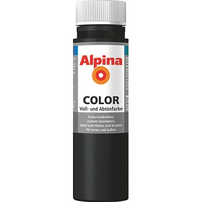Alpina Color Night Black seidenmatt 250 ml