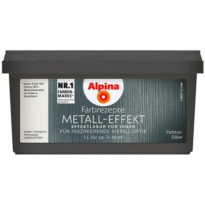 Alpina Farbrezepte Metall Effekt Silber 1 L