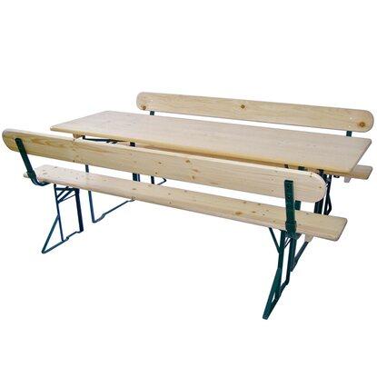 bierzeltgarnitur 3 teilig mit tisch und 2 b nken mit r ckenlehne kaufen bei obi. Black Bedroom Furniture Sets. Home Design Ideas
