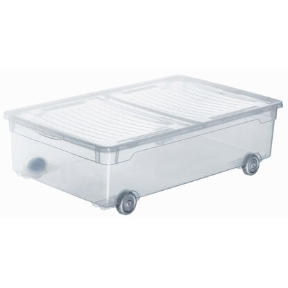 Rotho Clear Box Slido mit Rollen Transparent 30 l