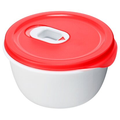 Rotho Mikrowellenbehälter Micro Clever Porcelain-Rot  0,8 l