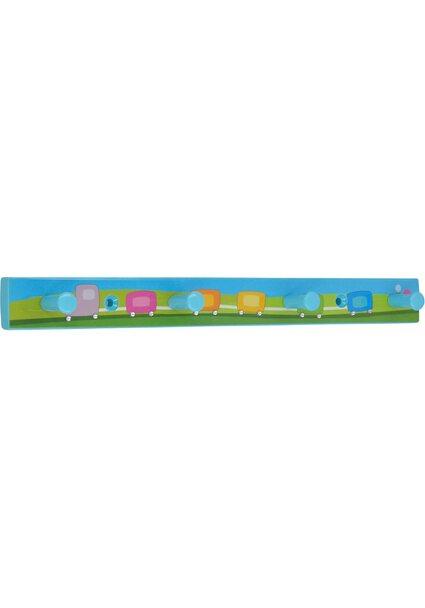 Siro Hakenleiste SM8177 Kunststoff Kinder Zug Blau Glitzerstein Länge 300 mm