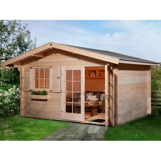 obi holz gartenhaus panorama im obi online shop. Black Bedroom Furniture Sets. Home Design Ideas