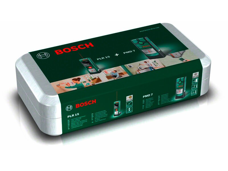 Bosch Entfernungsmesser Plr 15 Bedienungsanleitung : Bosch messtechnik set plr 15 pmd 7 kaufen bei obi
