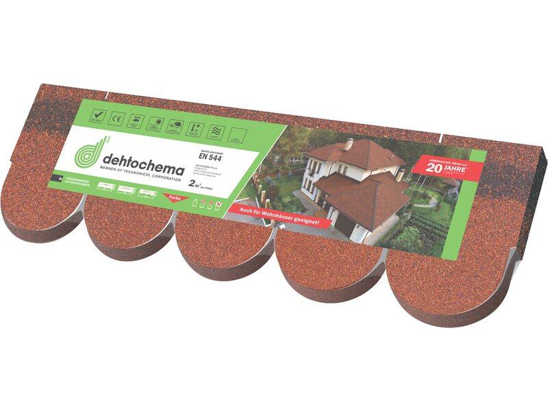 Dehtochema bitumen biberschindeln rot 2 m kaufen bei obi - Fliesenkleber auf bitumen ...
