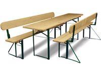 bierzeltgarnitur mit r ckenlehne mit 70 cm breitem tisch kaufen bei obi. Black Bedroom Furniture Sets. Home Design Ideas