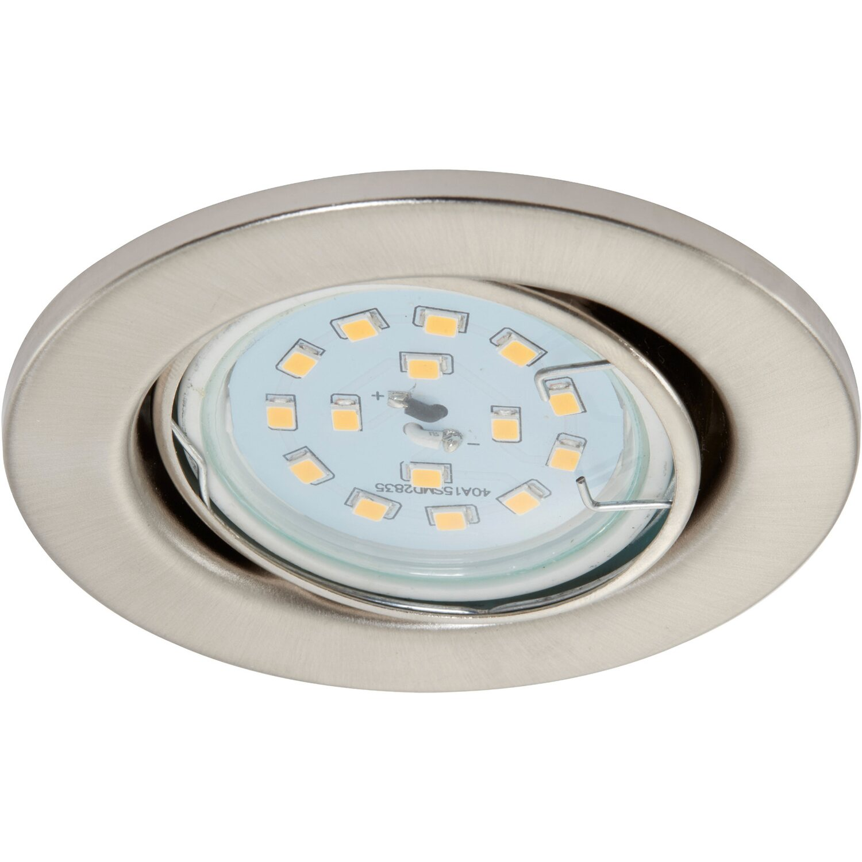 Briloner LED-Einbauleuchte Nickel matt Schwenkbar EEK: A+