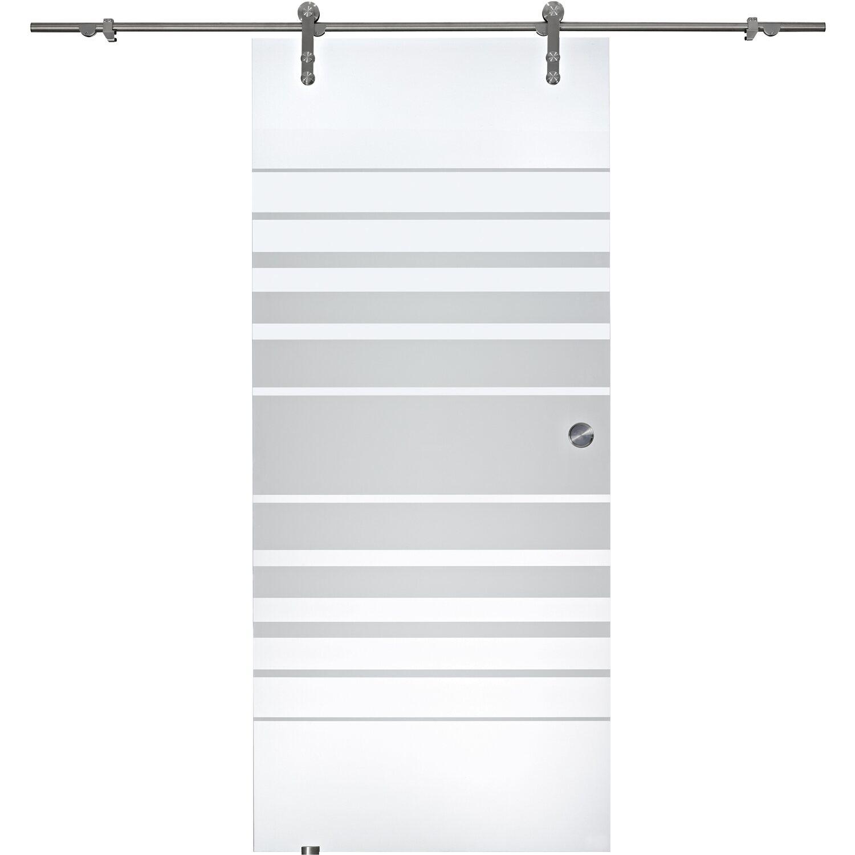 OBI  Glasschiebetür Coluna offenes System Streifen 90 cm x 205 cm
