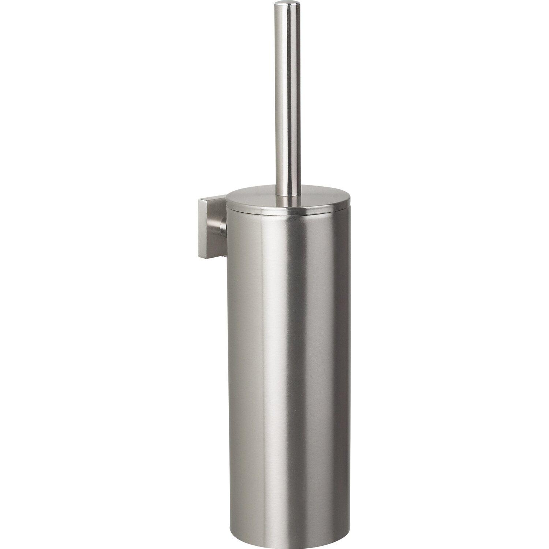 spirella wc b rstengarnitur nyo steel brushed aus geb rstetem edelstahl kaufen bei obi. Black Bedroom Furniture Sets. Home Design Ideas