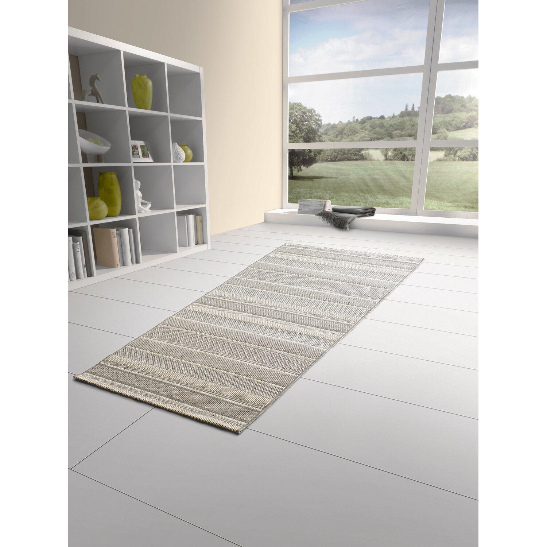 obi teppich toleda grau creme gestreift 80 cm x 180 cm kaufen bei obi. Black Bedroom Furniture Sets. Home Design Ideas
