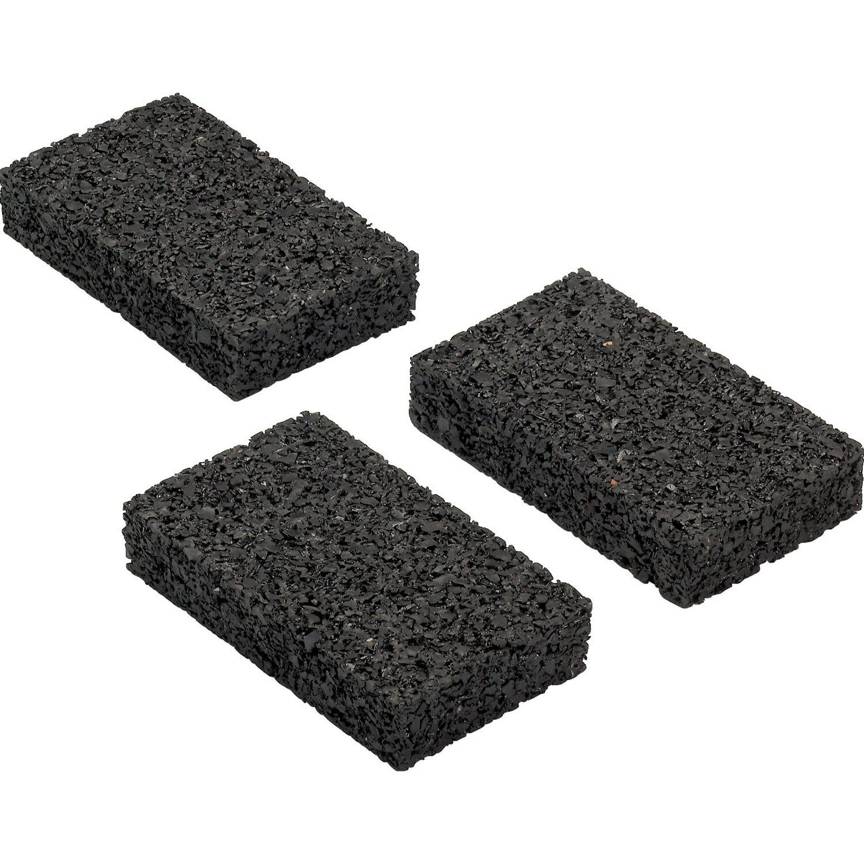 Rettenmeier Auflagepads für Unterkonstruktion Schwarz 10 cm x 6 cm x 2 cm 20 Stück