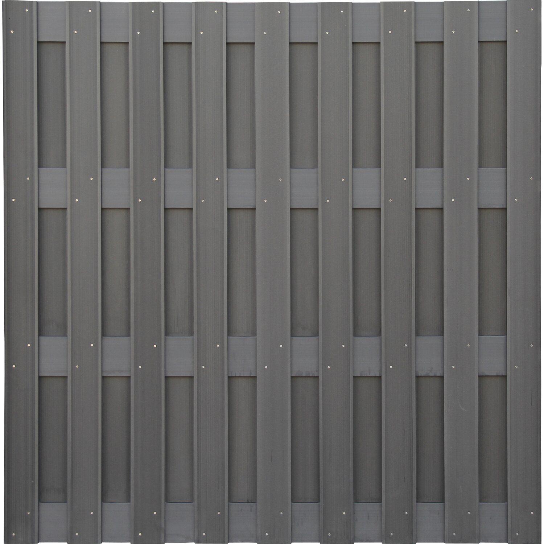 Sichtschutzzaun Element Wpc Anthrazit 180 Cm X 180 Cm Kaufen Bei Obi
