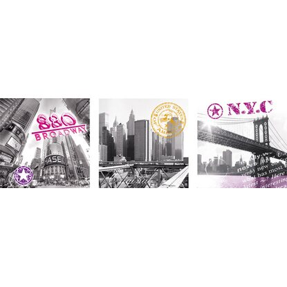 Eurographics Wandtattoo 3er-Set New York Impressions