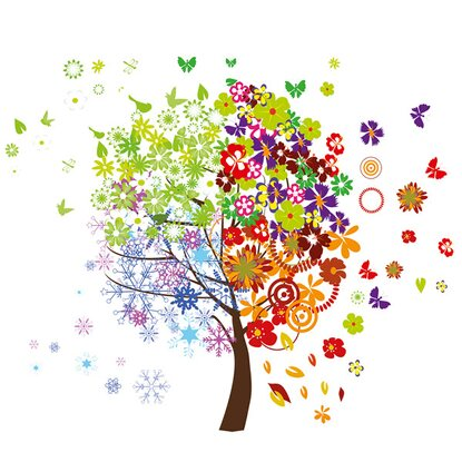Eurographics Deco Sticker Four Seasons Tree