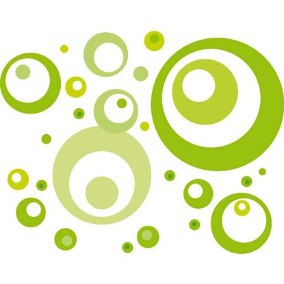 Eurographics Wandtattoo Lime Green Bubbles
