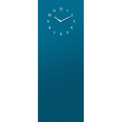 Eurographics Memoboard Time Board Petrol Blue Clock 30 cm x 80 cm