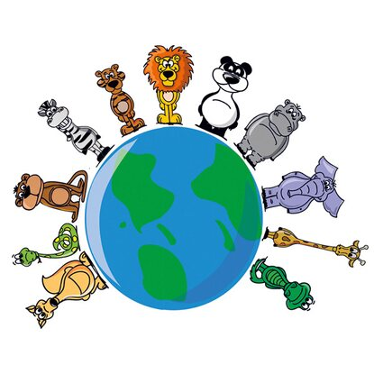 Eurographics Deco Sticker Animals Around The Earth