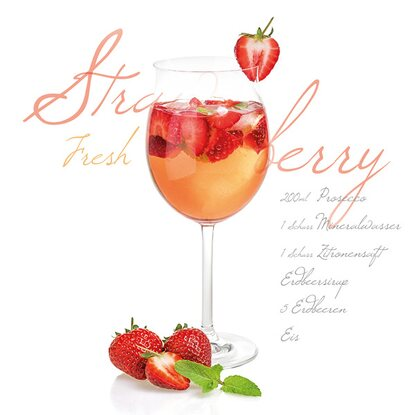 Eurographics Glasbild Strawberry Fresh 30 cm x 30 cm