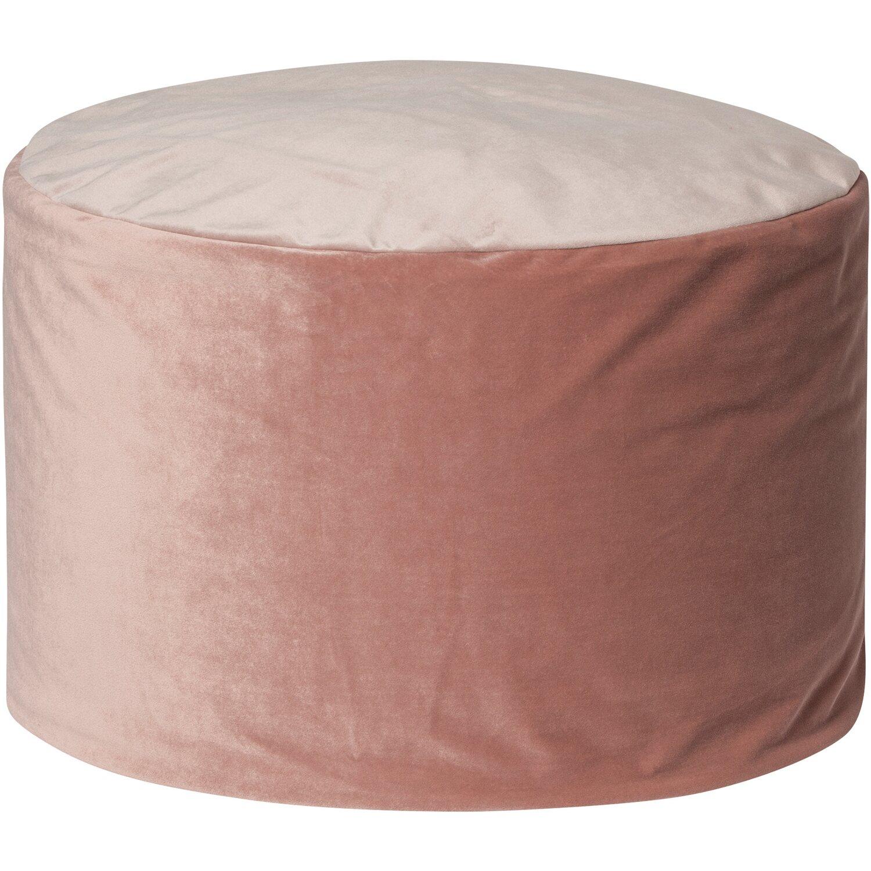 Sitting Point Sitzhocker DotCom Samt UNI 120 l Rose