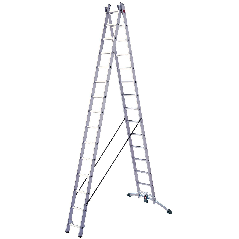 Hailo  Vielzweck-Leiter Alu 2 x 15 Sprossen