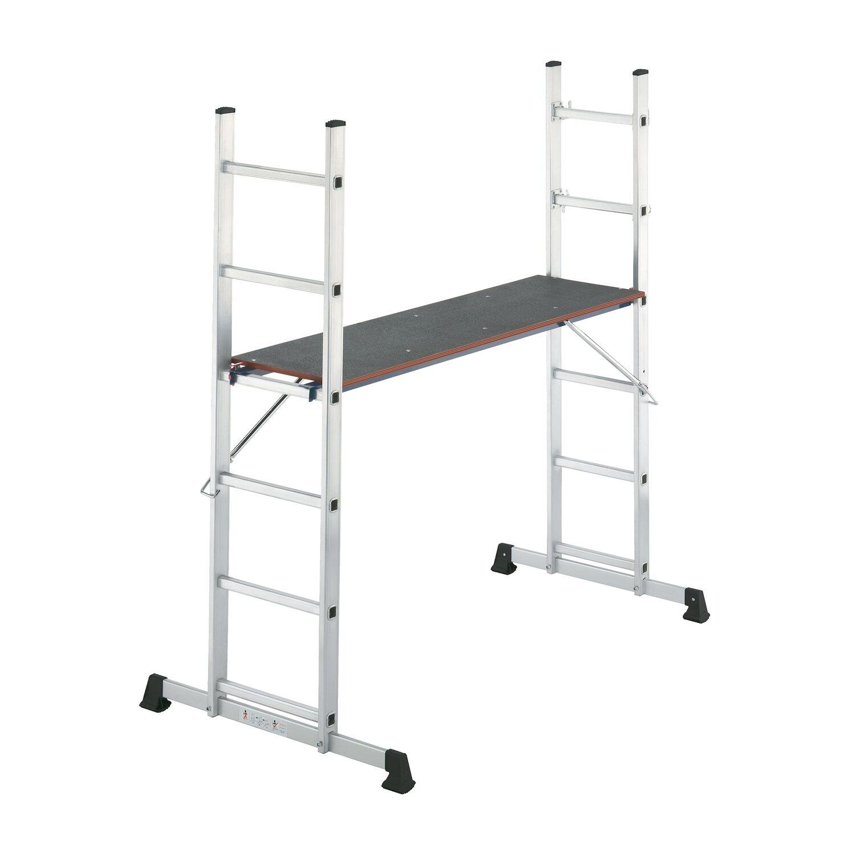 hailo ger st und leiter aluminium hobbystep 3 teilig 2 x 6 sprossen kaufen bei obi. Black Bedroom Furniture Sets. Home Design Ideas
