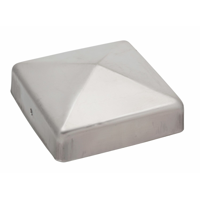 Pfostenkappe quadratisch edelstahl 91 mm x 91 mm kaufen - Obi holzpfosten ...