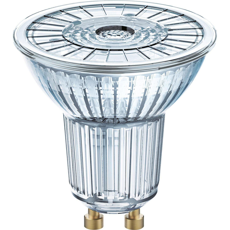 LightMe LED Glas Reflektor PAR16 GU10 5W = 50W 345lm warmweiß 3000K 38°