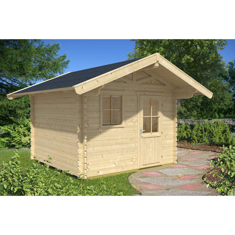 Skan Holz-Gartenhaus Arosa 2 Natur B x T 300 cm x 300 cm Preisvergleich