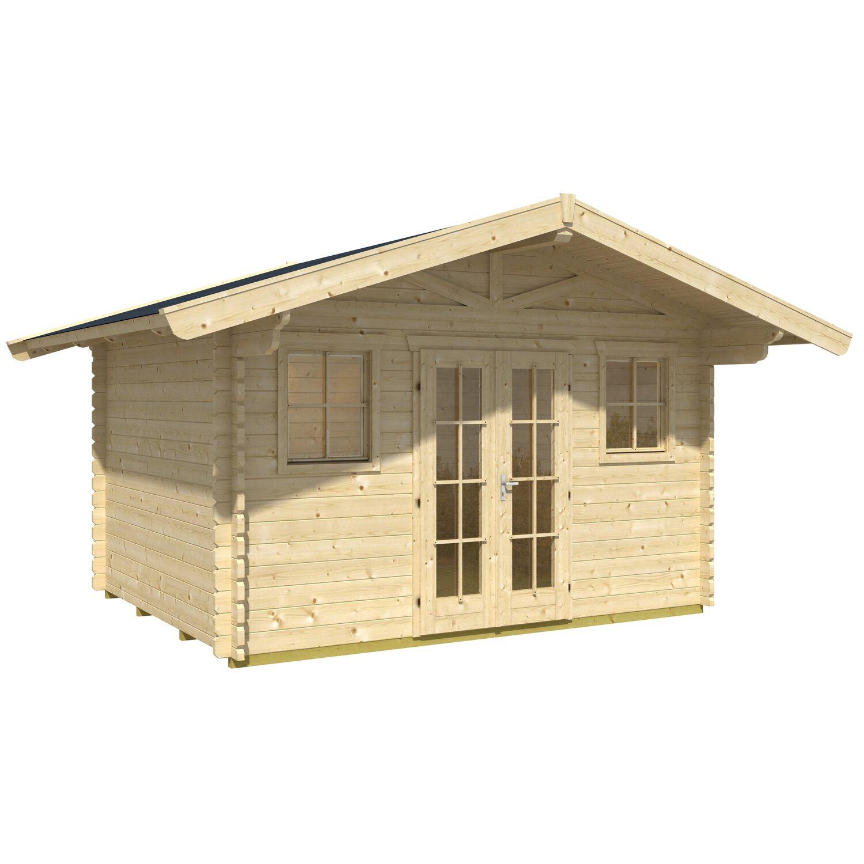 skan holz gartenhaus davos 1 natur b x t 380 cm x 300 cm kaufen bei obi. Black Bedroom Furniture Sets. Home Design Ideas