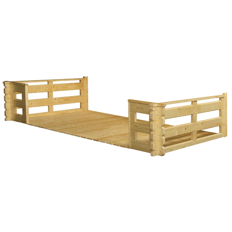 skan holz terrasse 380 cm x 200 cm f r gartenhaus 45 mm. Black Bedroom Furniture Sets. Home Design Ideas