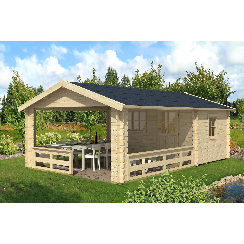 Skan Holz Gartenhaus Alicante 1 Natur B X T 380 X 513 Cm Davon 363