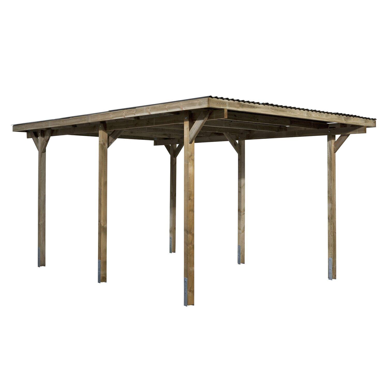 flachdach einzelcarport holz 300 cm x 500 cm kaufen bei obi. Black Bedroom Furniture Sets. Home Design Ideas