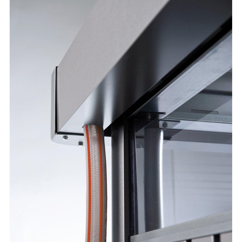 biohort ger tehaus highline quarzgrau metallic gr h5 b x t 275 cm x 315 cm kaufen bei obi. Black Bedroom Furniture Sets. Home Design Ideas