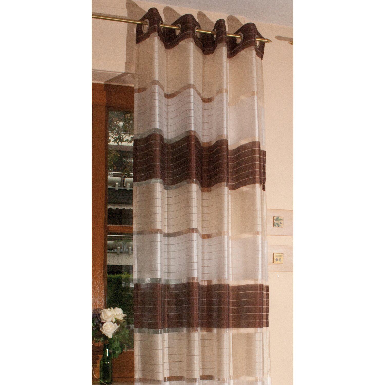 Senschal alzira 240 cm x 145 cm braun transparent kaufen for Kuchenschranke 240 cm