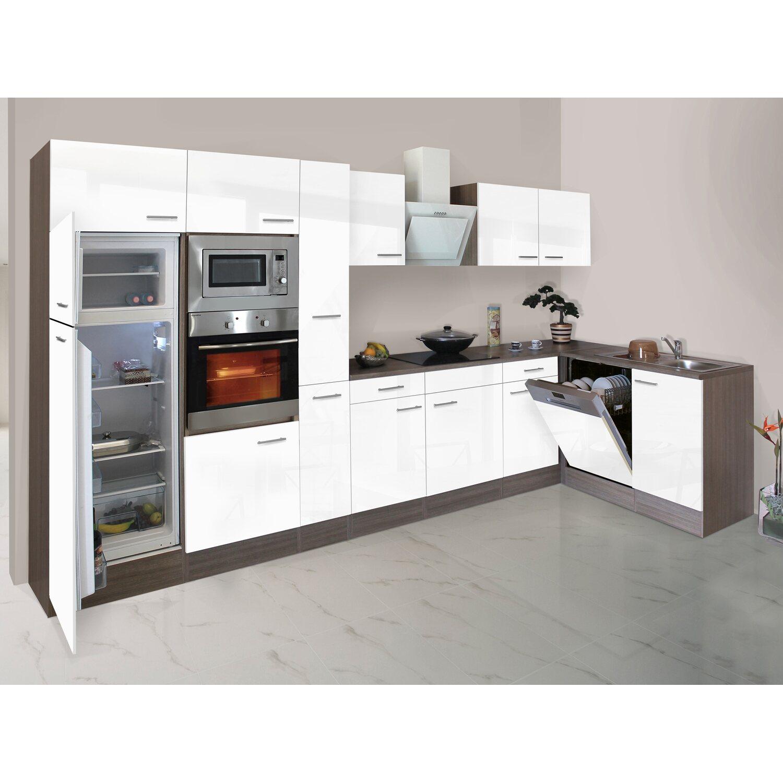 respekta winkelk che 370 cm wei seidenglanz eiche york nachbildung kaufen bei obi. Black Bedroom Furniture Sets. Home Design Ideas
