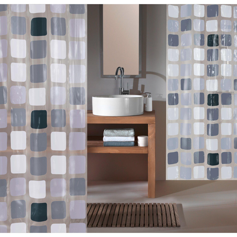obi duschvorhang mary 180 cm x 200 cm anthrazit kaufen bei obi. Black Bedroom Furniture Sets. Home Design Ideas