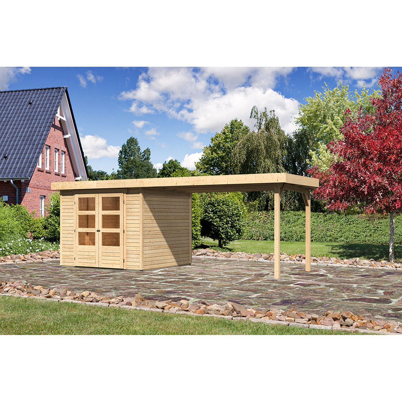 karibu holz gartenhaus boras 3 5 natur set bxt 497x246 cm. Black Bedroom Furniture Sets. Home Design Ideas