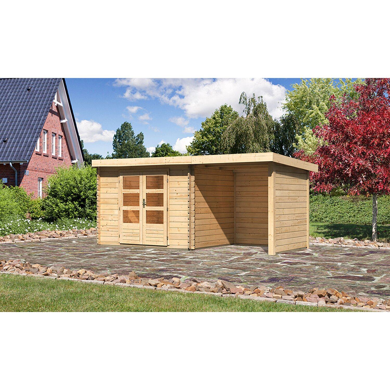 Karibu Holz Gartenhaus Angelholm 3 Natur Set Bxt 480x220 Davon 200