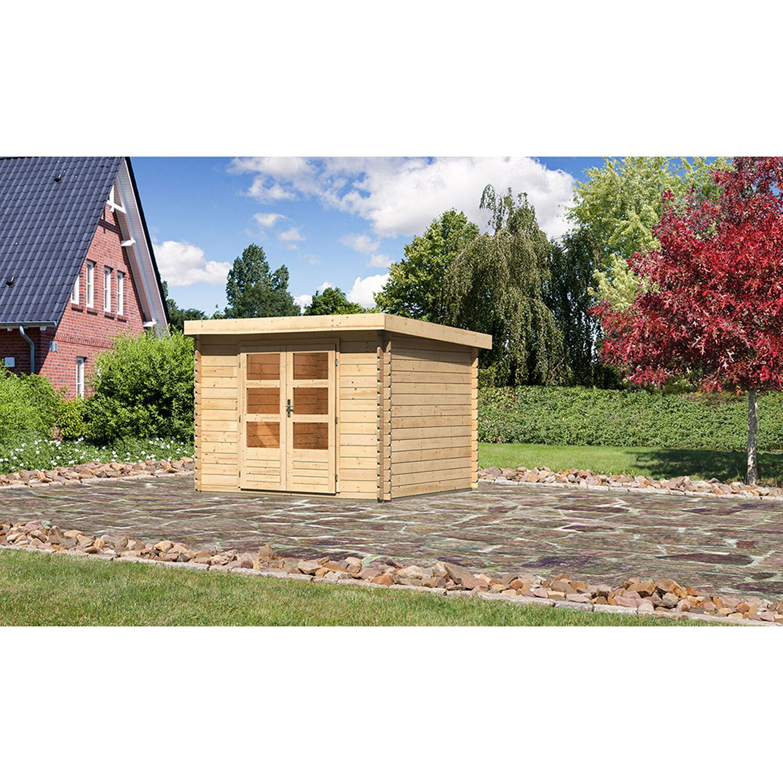 Karibu Holz-Gartenhaus Ängelholm 3 Natur B x T: 280 cm x 220 cm