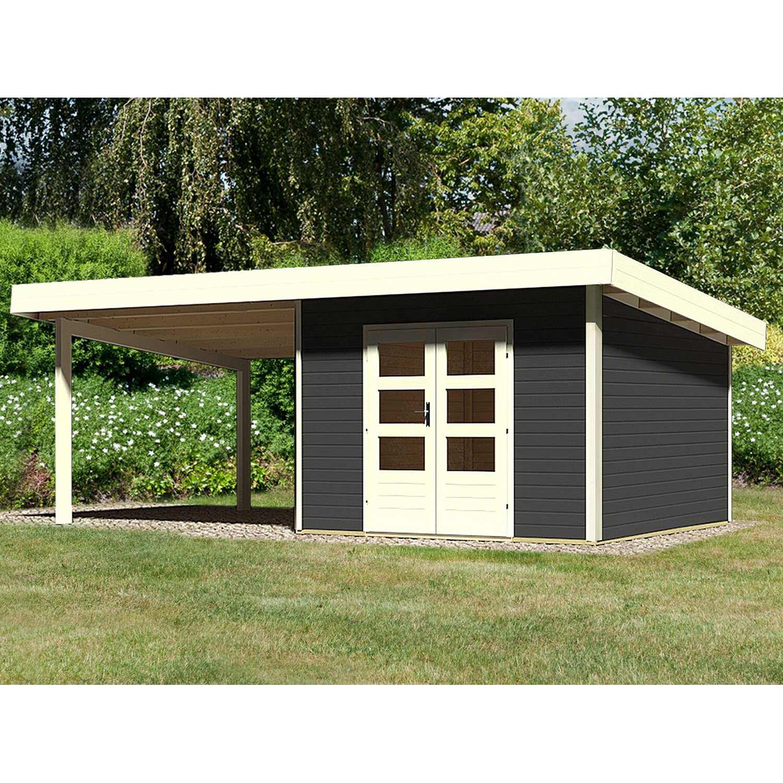 karibu holz gartenhaus karlskoga 3 opalgrau set bxt 605x305 dav 300cm anbaudach kaufen bei obi. Black Bedroom Furniture Sets. Home Design Ideas