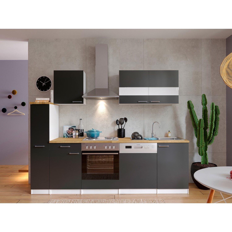 respekta k chenzeile kb250wg 250 cm grau wei kaufen bei obi. Black Bedroom Furniture Sets. Home Design Ideas