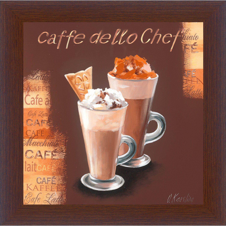 Sonstige Bild mit Rahmen Coffee II 38 cm x 38 cm