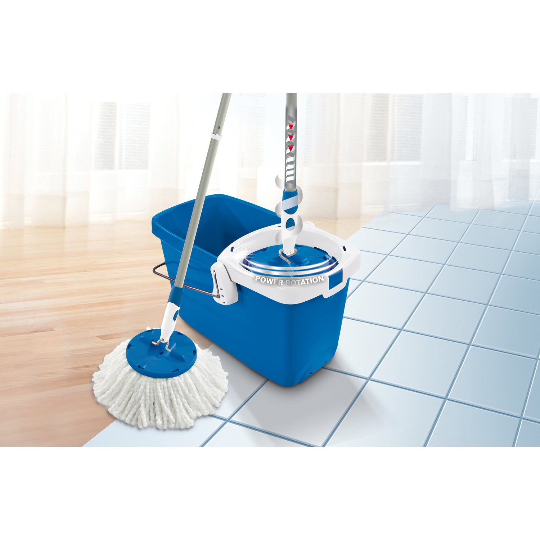 leifheit set clean twist disc mop pure blue kaufen bei obi. Black Bedroom Furniture Sets. Home Design Ideas