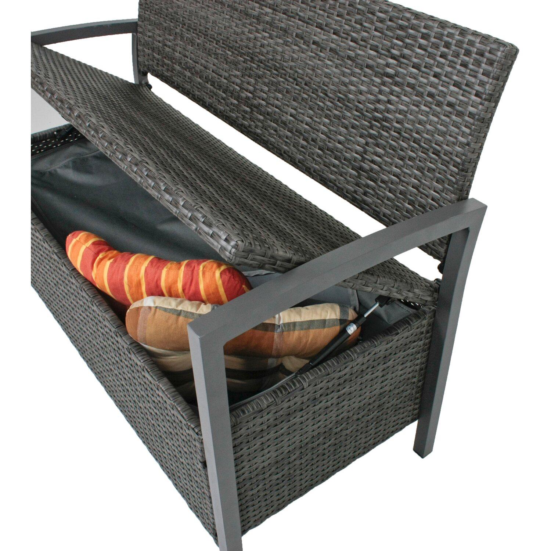 garden pleasure park truhen gartenbank ferrara 2 sitzer dunkelgrau kaufen bei obi. Black Bedroom Furniture Sets. Home Design Ideas