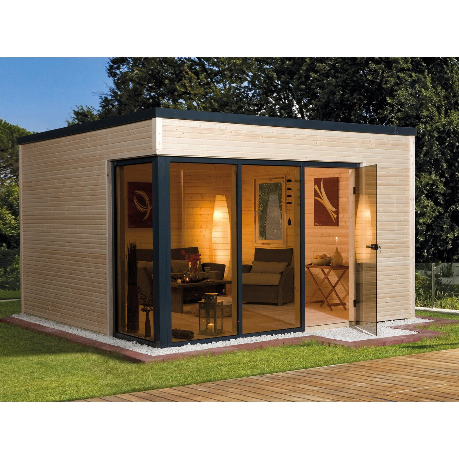 weka design holz gartenhaus cubilis a naturbxt 380 cm x 300 cm kaufen bei obi. Black Bedroom Furniture Sets. Home Design Ideas