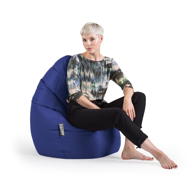 Sitting Point Sitzsack Beanbag Brava Xxl 300 L Dunkelblau Kaufen Bei Obi