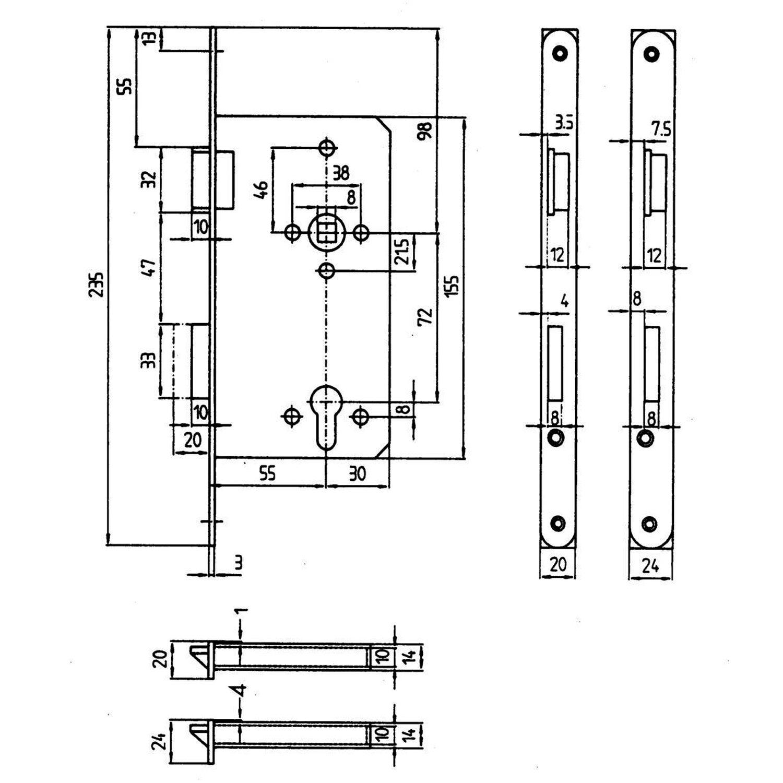 korridor sicherheitsschloss f r profilzylinder gef lzt din rechts edelstahl kaufen bei obi. Black Bedroom Furniture Sets. Home Design Ideas