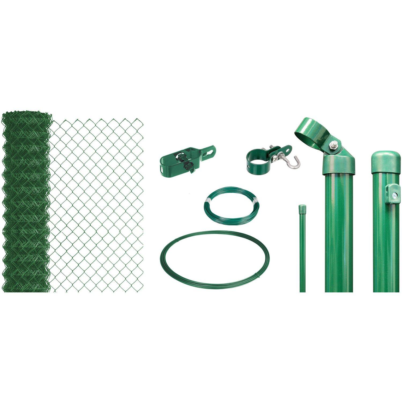 Maschendraht-Zaun-Set 100 cm Hoch 25 m Länge Grün zum Einbetonieren Preisvergleich
