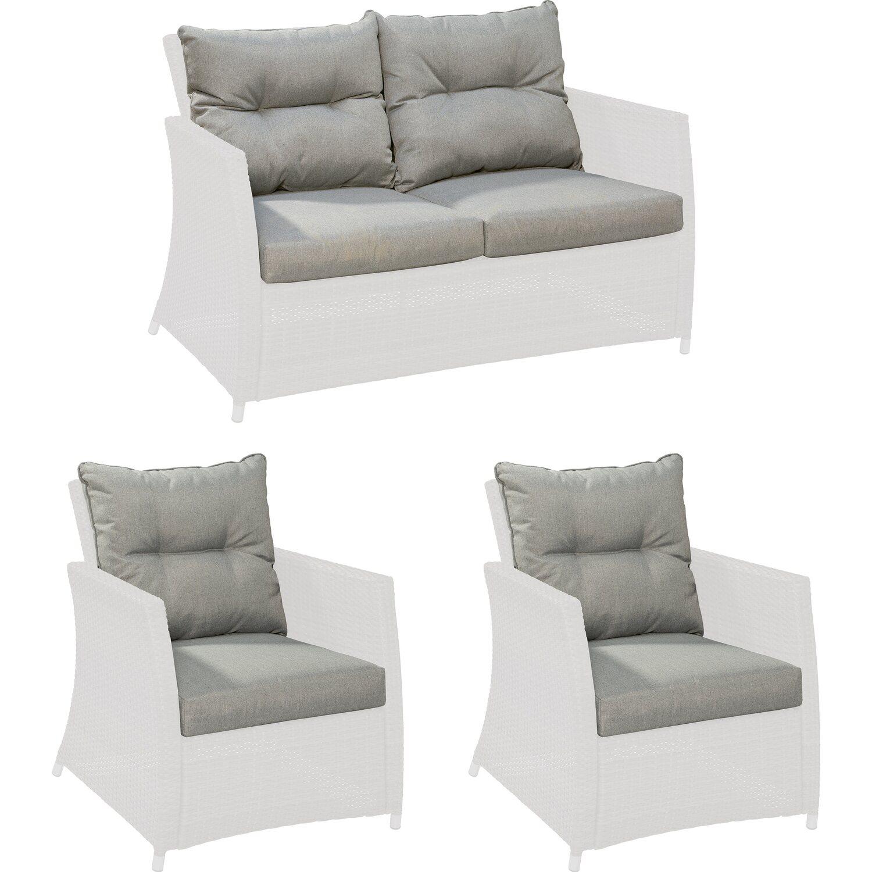 ersatzkissen set f r gartenm belgruppe melvern grey kaufen bei obi. Black Bedroom Furniture Sets. Home Design Ideas